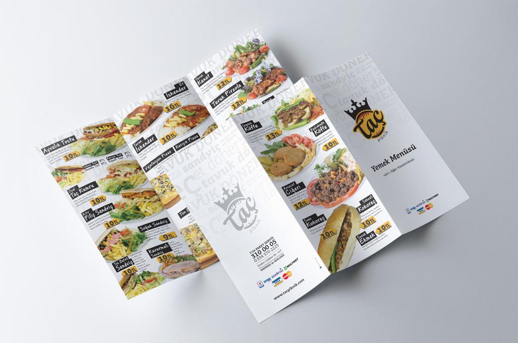 Taç Piknik Paket Menü Tasarımı