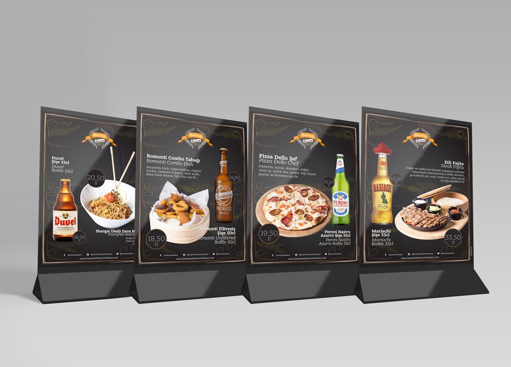 Brasserie Bomonti Masaüstü Reklam Tasarımları