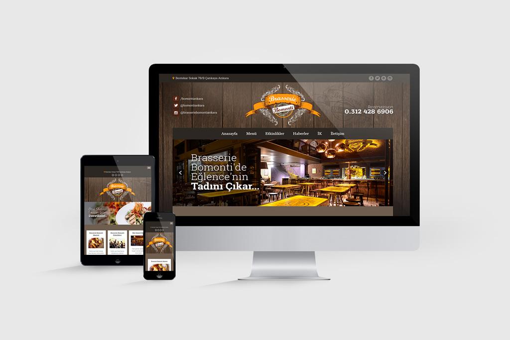 Brasserie Bomonti Web Sayfası Tasarımı