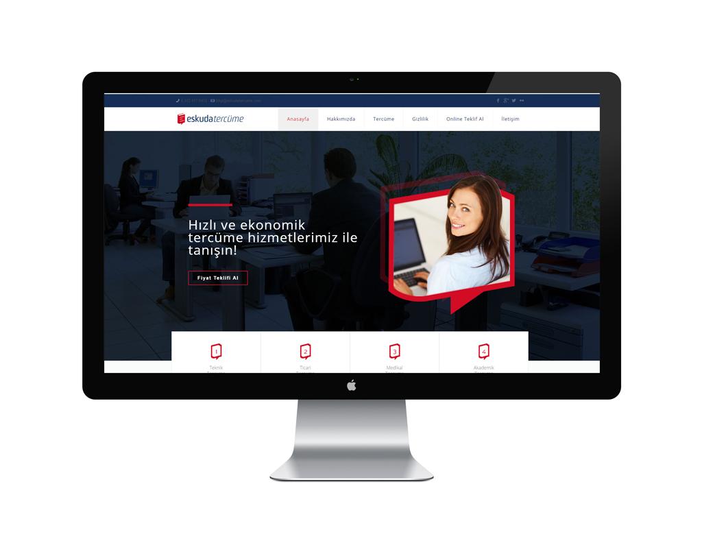 Eskuda Tercüme Web Sitesi Tasarımı