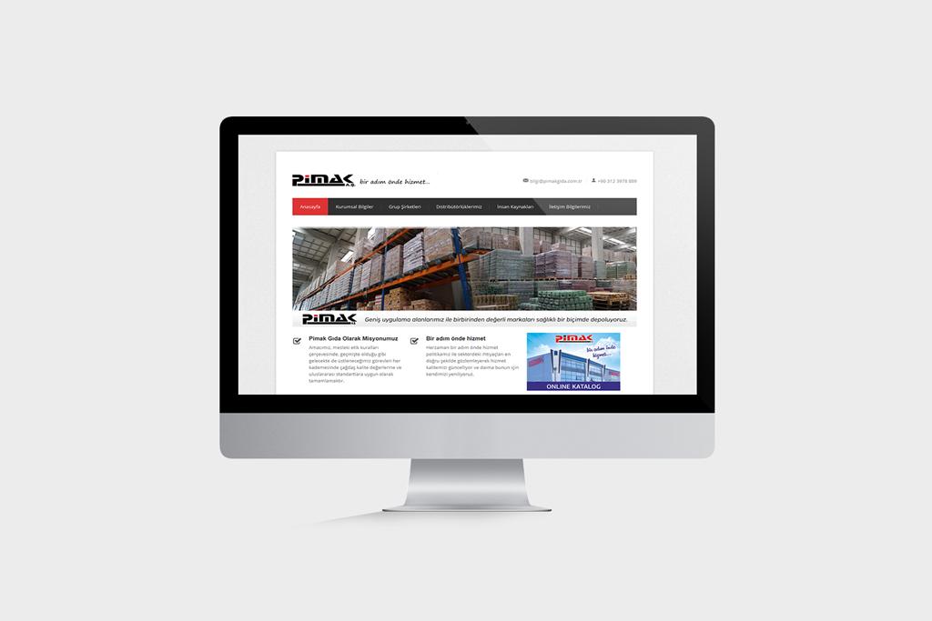 Pimak Gıda Web Sitesi Tasarımı